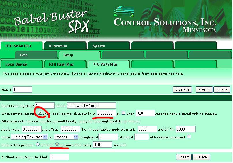 SPX write map details